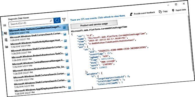 Διαγνωστικό πρόγραμμα προβολής δεδομένων στα Windows 10