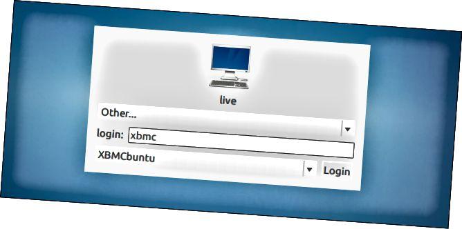 xbmcbuntu-σύνδεση