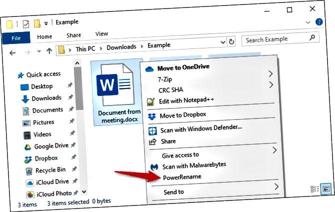 Μαζική μετονομασία αρχείων στην Εξερεύνηση αρχείων με το PowerToy της Microsoft.