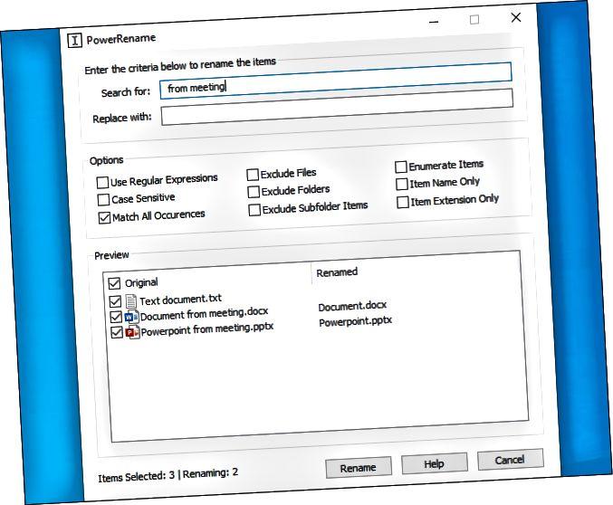 Χρησιμοποιώντας το εργαλείο μετονομασίας παρτίδας PowerRename της Microsoft.