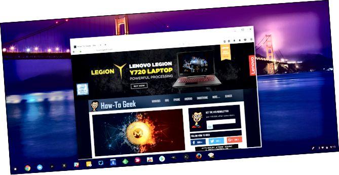 Versioni Linux i Firefox që funksionon në Chrome OS
