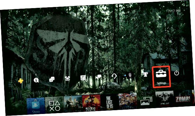 Αρχική οθόνη PS4