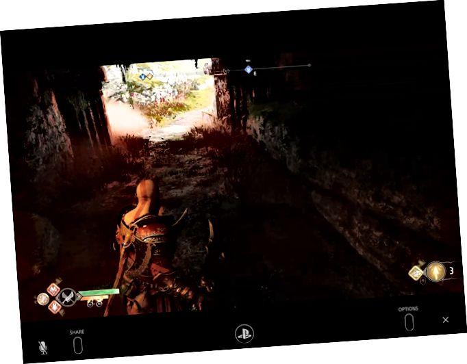 Το God of War χρησιμοποιεί PS4 Remote Play