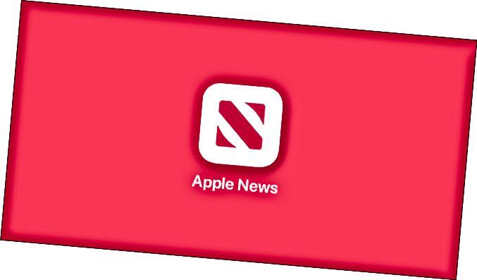 El logotip d'Apple News.