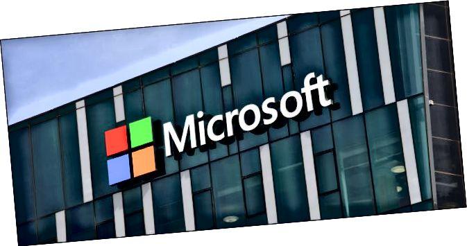 Logotip de Microsoft en un edifici