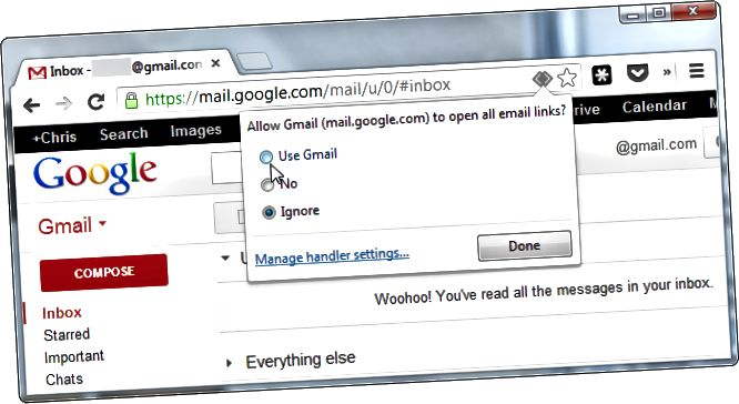дадатак chrome-use-gmail-as-default-email