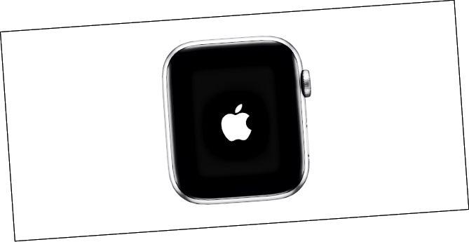 Apple- ის ლოგო, რომელიც ნაჩვენებია Apple Watch- ზე
