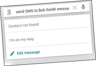 android-send-sms- ხმით