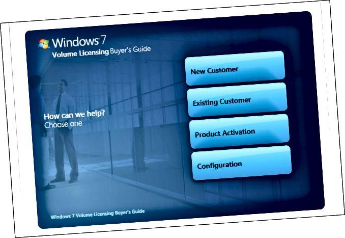 Microsoft-аб'ём-ліцэнзія для Windows-7