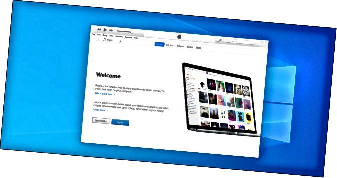 iTunes на працоўным стале Windows