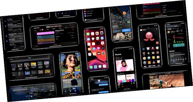 πολλά iPhone εμφανίζουν διαφορετικές λειτουργίες σε σκοτεινή λειτουργία.