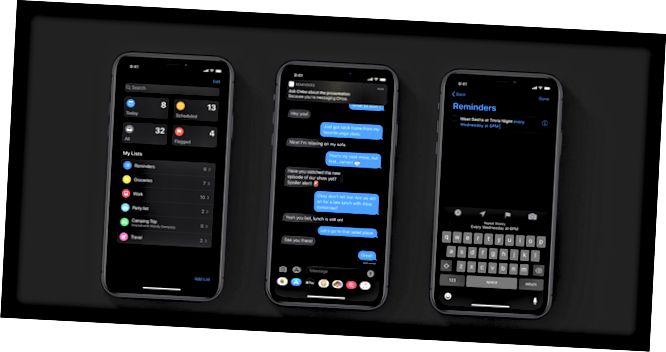 iPhone που εμφανίζουν ενημερώσεις εφαρμογών υπενθυμίσεων.