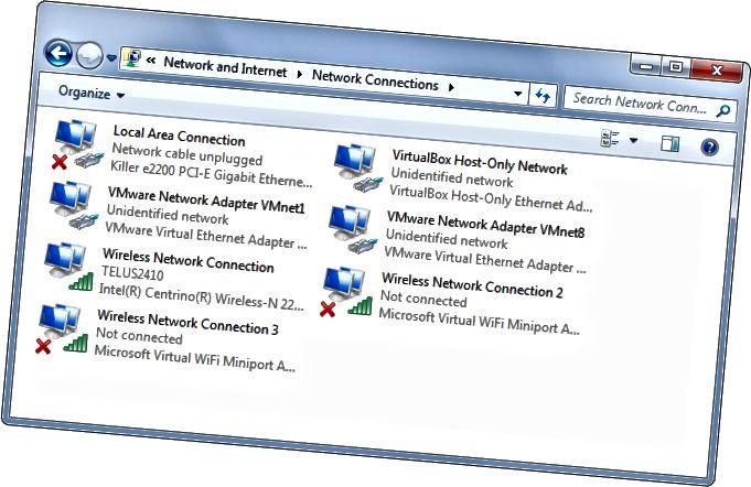 ממשקי רשת בחלונות