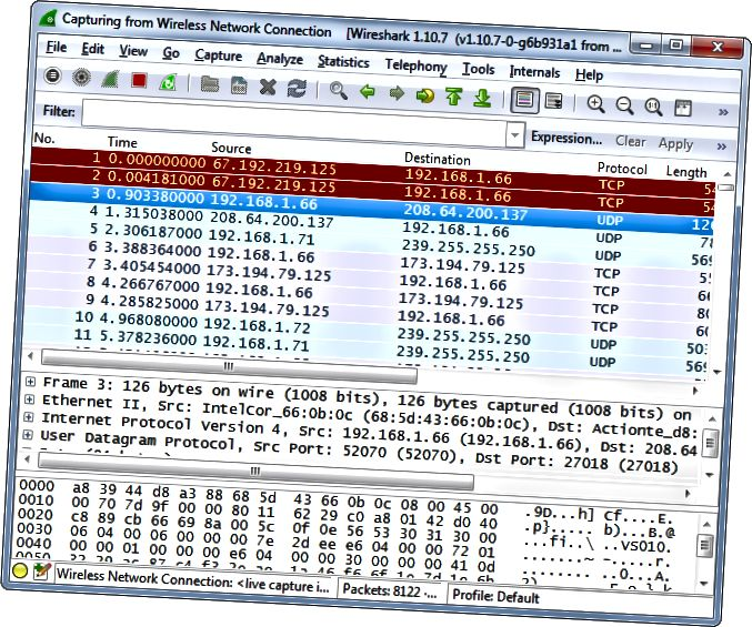 wireshark-TCP-UDP