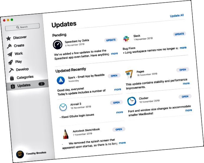Mac App StoreからMacアプリを更新する