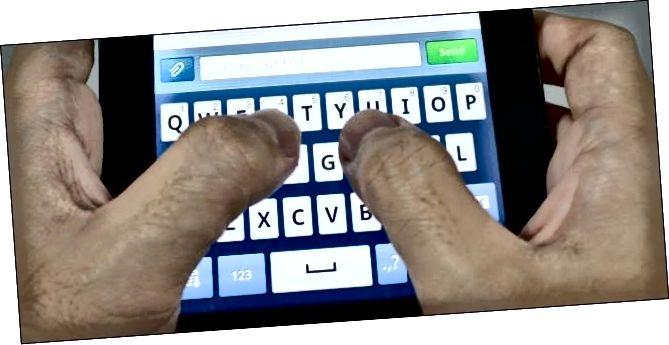 набіраючы клавіятуры на андроід