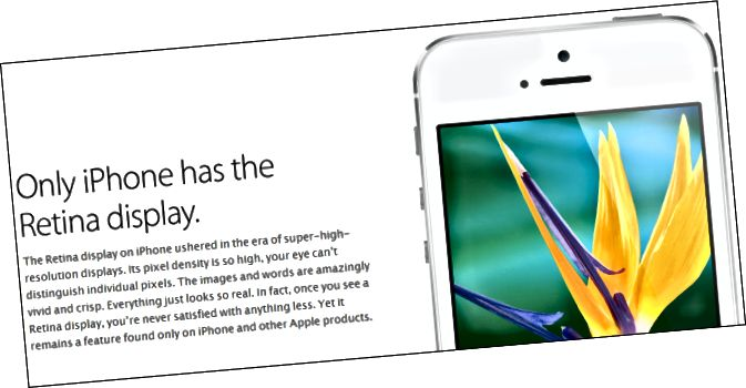 толькі-iphone-мае сятчаткі-дысплей-зман