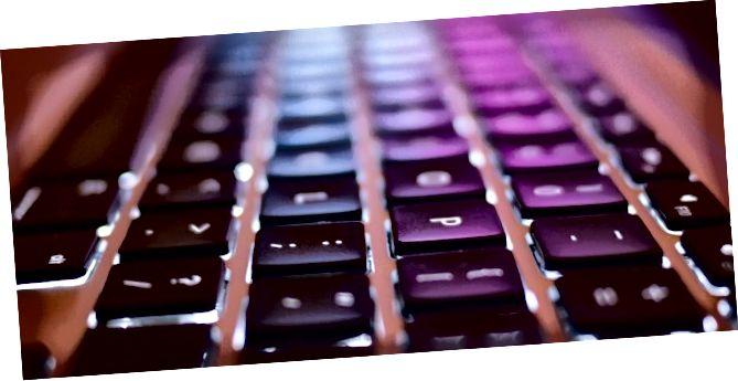 падсветкай клавіятуры загалоўка боке