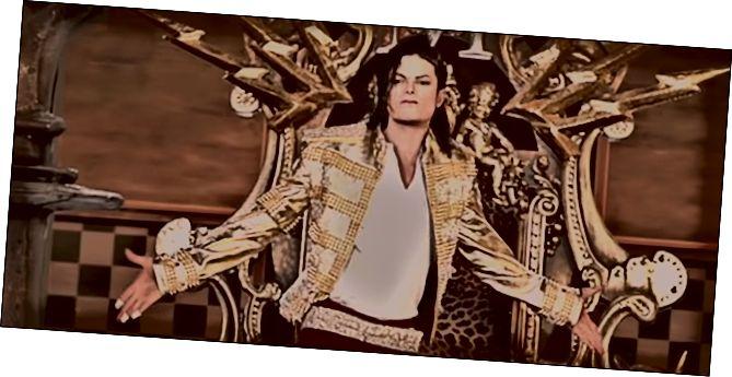Μια φωτογραφία του ολογράμματος του Micheal Jackson στα Billboard Music Awards.