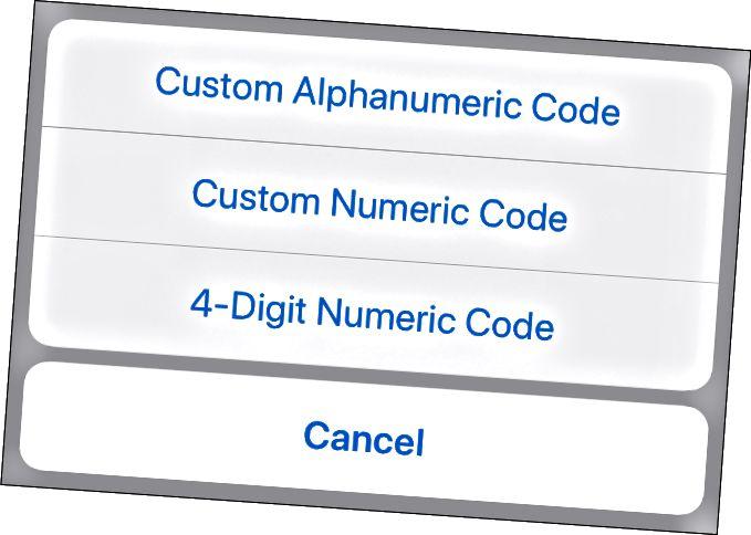 iPhoneのロックを解除するための英数字のパスコードを作成する