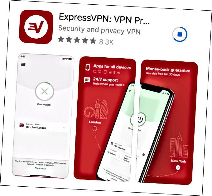 iOS用ExpressVPNのダウンロード