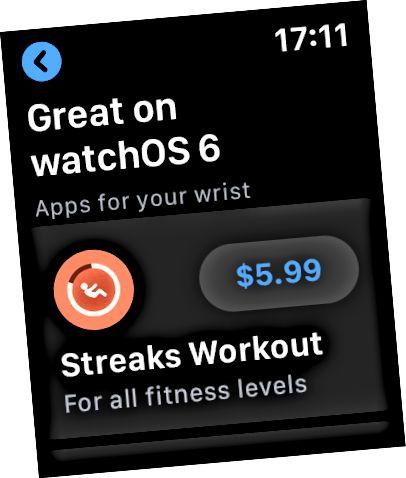 Дадатак, якое загружаецца з App Store на Apple Watch.