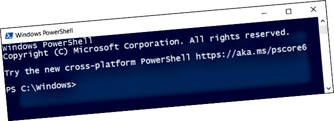 Una finestra PowerShell.