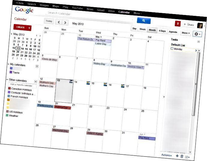 google-каляндар