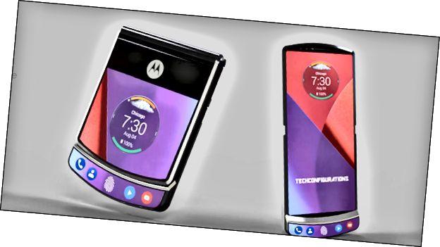Έννοια τέχνης του πτυσσόμενου τηλεφώνου Motorola RAZR 4