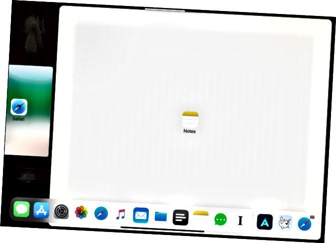 Προσθήκη εφαρμογών στο Split View με δρομέα στο iPad