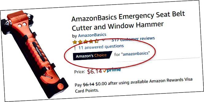 Скрыншот фрэзы AmazonBasics. Я значыцца як элемент выбару для пошукавага тэрміна