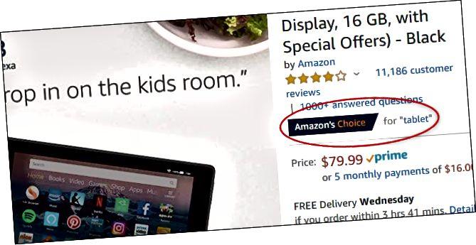 Скрыншот старонкі Amazon Kindle. Kindle - гэта выбар Amazon для пошукавага тэрміна