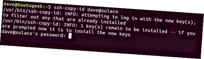 ссх-цопи-ид са одзивом лозинке у прозору терминала