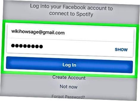 Brug af den mobile app