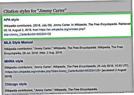 Brug af Wikipedia Citation Generator