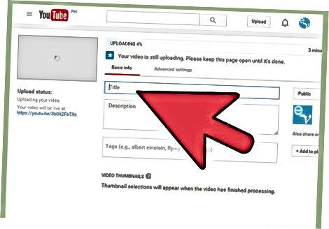 Upload af det til YouTube