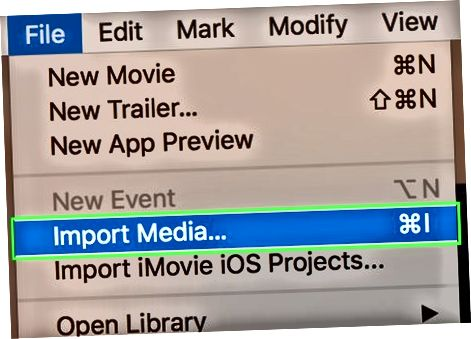 Mac-da iMovie-ga import qilish