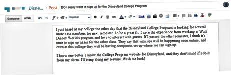 Betydningen og ud over praktikpladsen på college-programmet