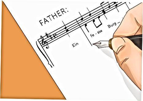 Skrivning af det musikalske