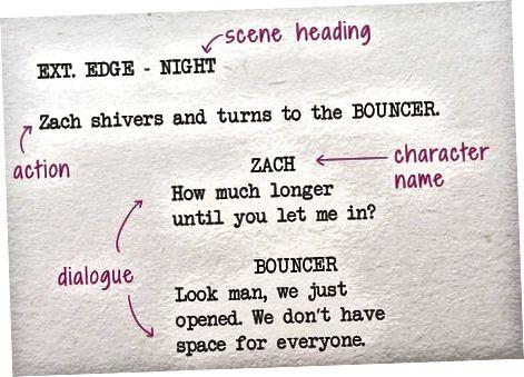 Formatering af scriptet