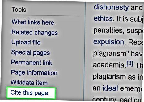 Brug af Wikipedia Citation Tool