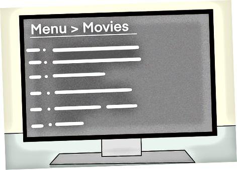Sådan får du filmen på skærmen