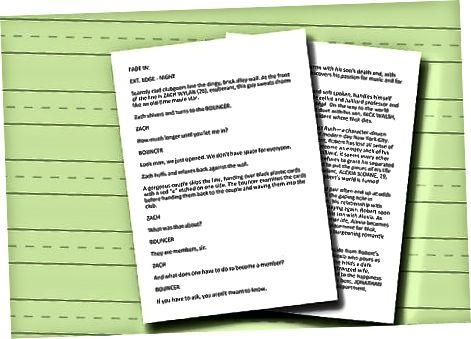 Skrivning af manuskriptet