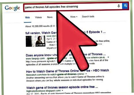 Streaming fra tredjepartswebsteder