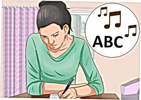 Skrivning af melodien