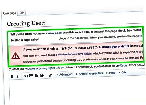 Oprettelse af en artikel som en autokonfirmeret bruger