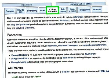 Brug af Wikipedia standarder til at skrive din artikel