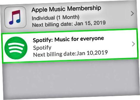 Spotify-abonnementer via iTunes