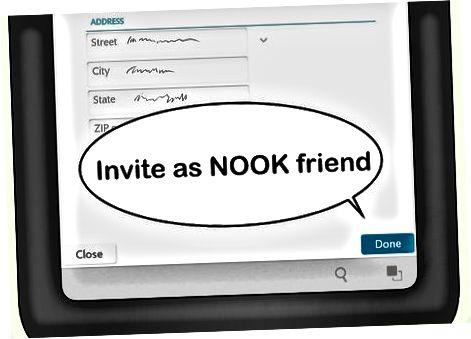 Tilføjelse af NOOK-venner