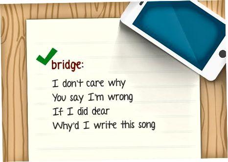Skrivning af sangtekster til din sang